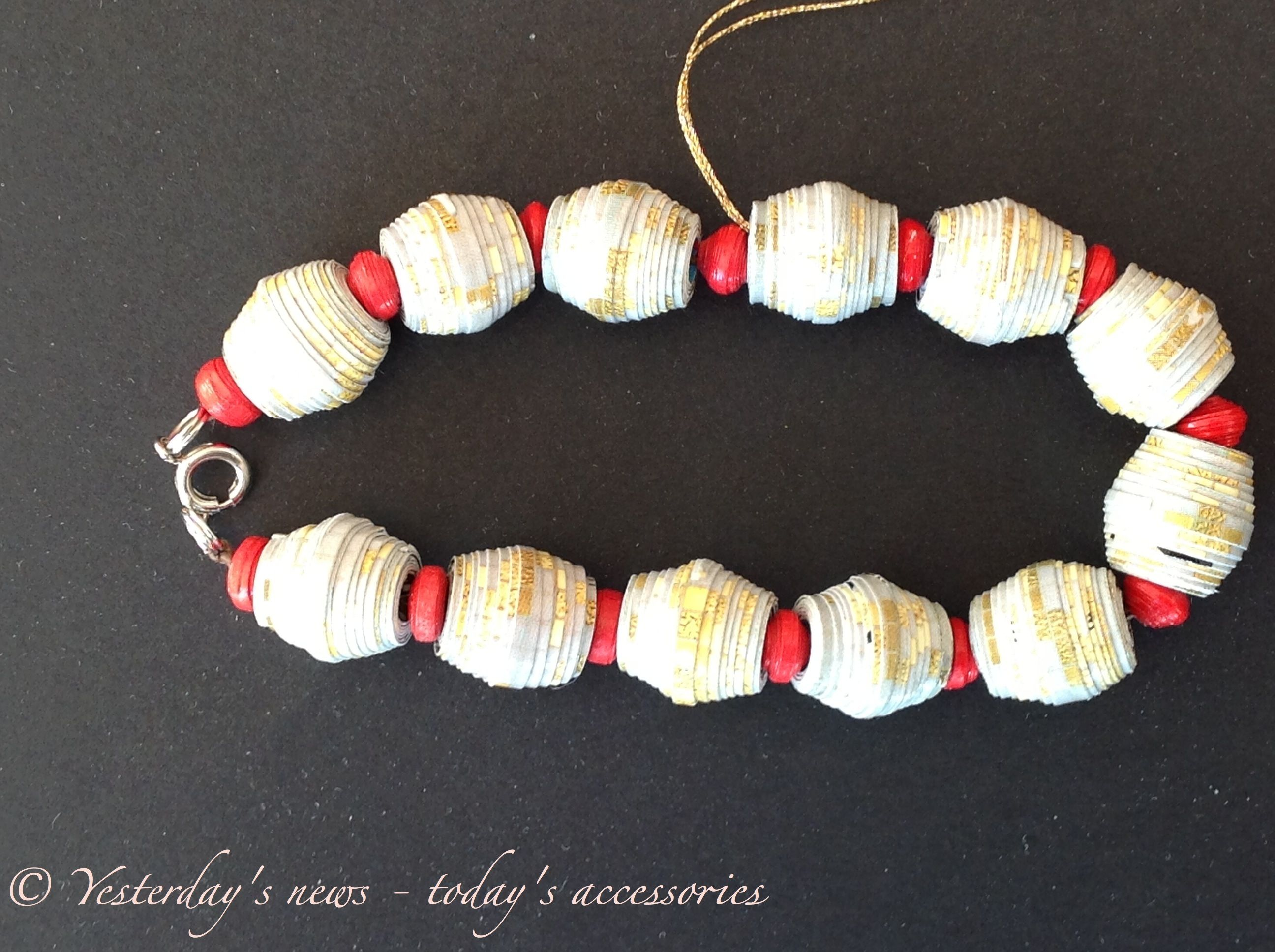 Newspaper Bracelet by Yesterday\'s news - today\'s accessories ...