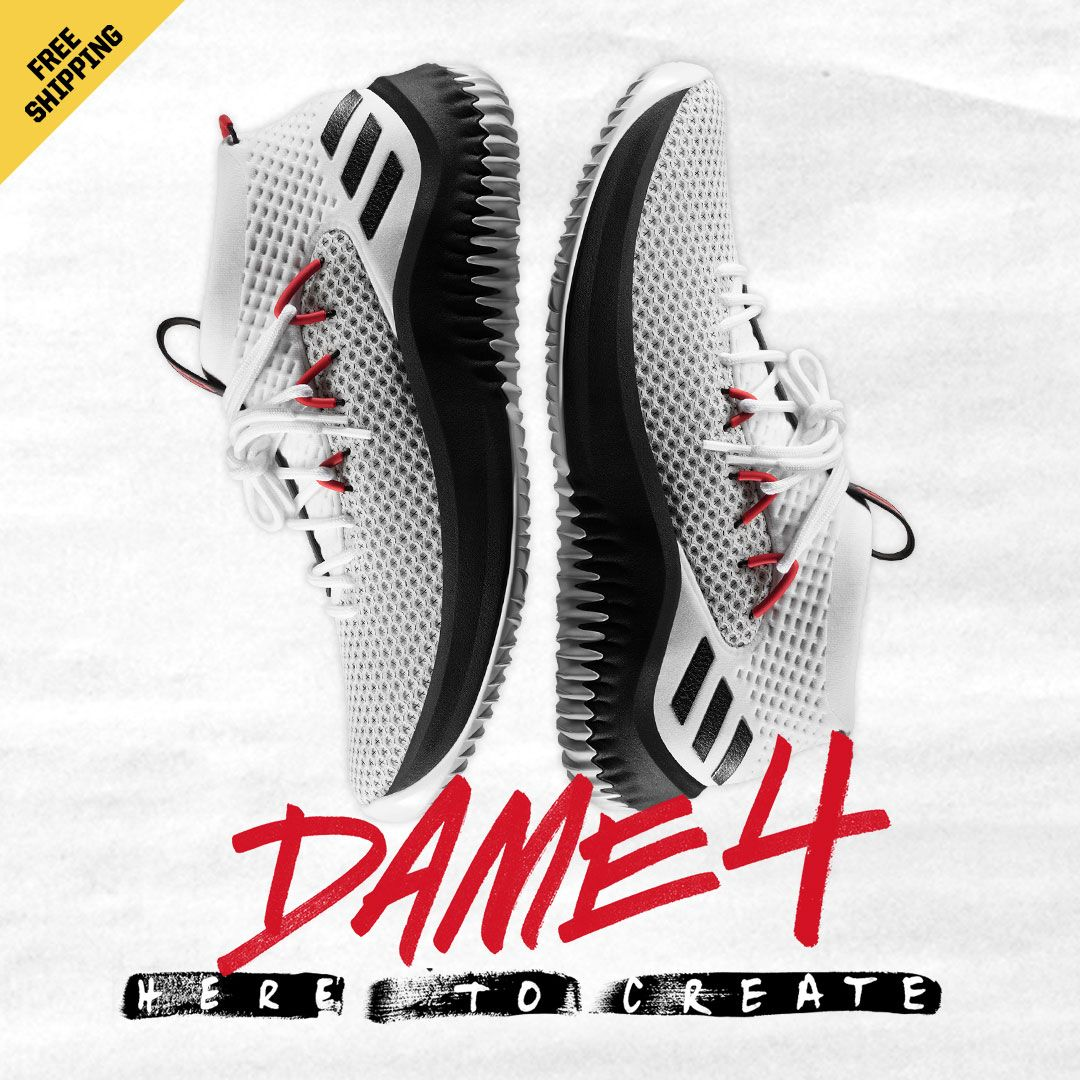 1d4e74e67fe521 You know what time it is. The new  adidas Dame 4 just dropped.  basketball   basketballshoes