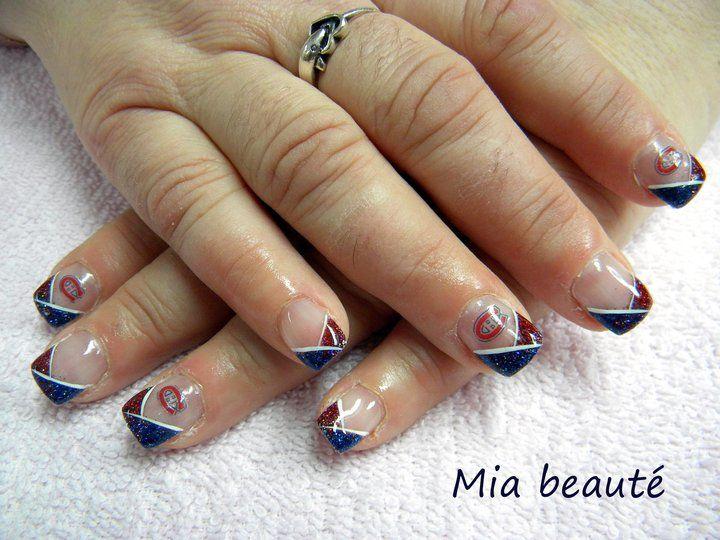 Ongles tricolores soumis par veronique vitalei habs - Salon ongles montreal ...