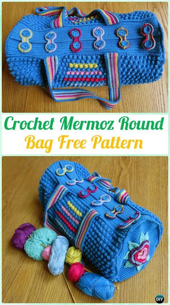 Crochet Mermoz Round Bag Free Pattern Crochet Handbag Free