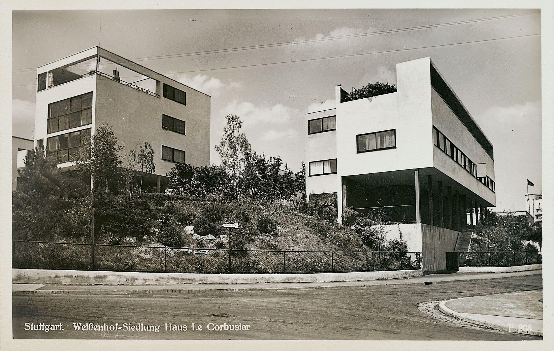 Weissenhofsiedlung 1927 at le corbusier pinterest for Villas weissenhofsiedlung