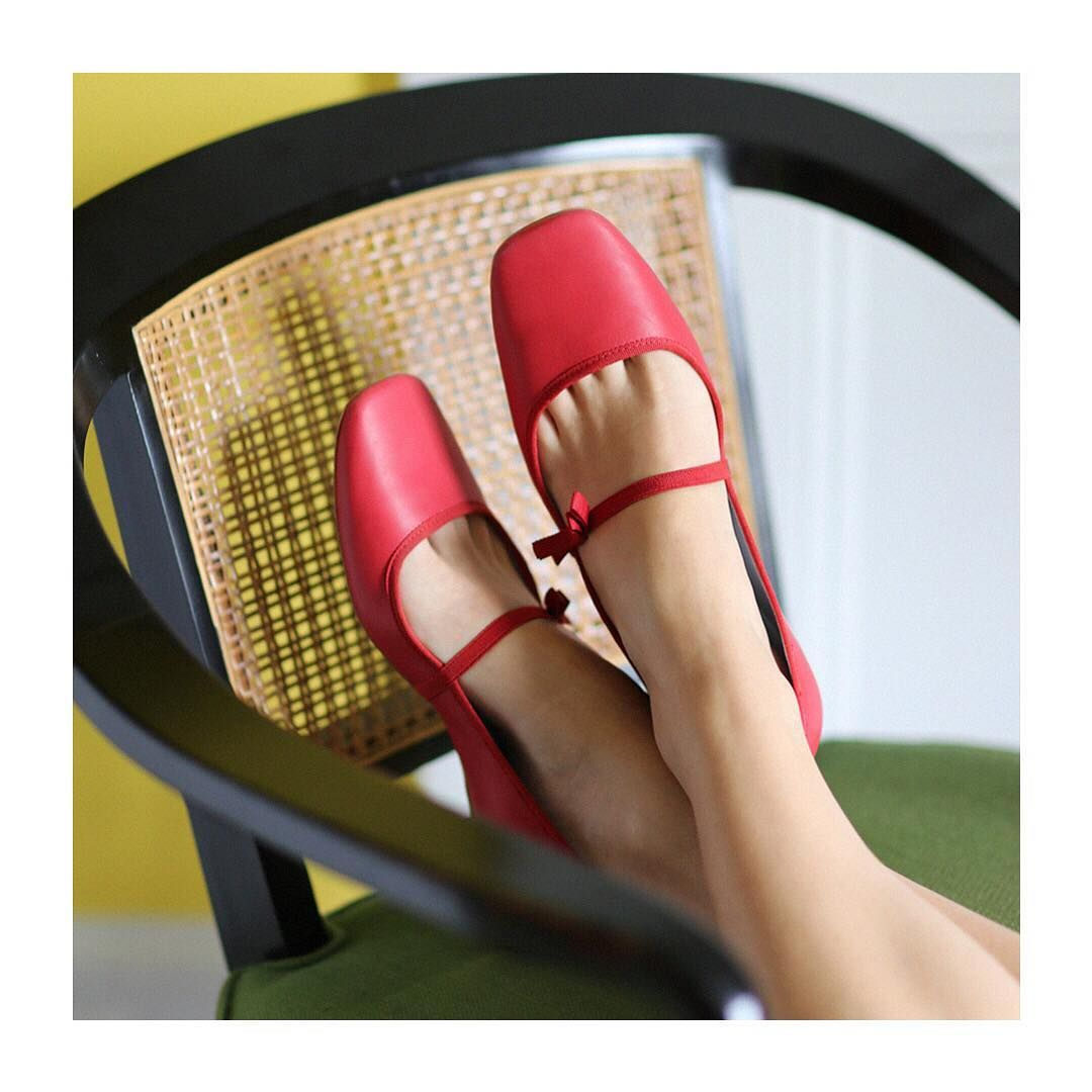 "1981590fa Frances Valentine:""Our comfy Jude Mary Jane flats kicking it back #tgif • •  • • • • • • #francesvalentine #shopfrancesvalentine #FV #shopFV…"""