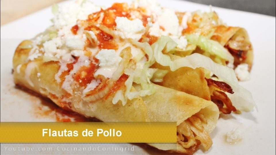 tacos dorados de pollo flautas de pollo recetas faciles cocinar en casa
