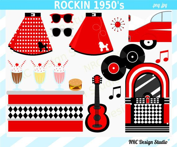 Clip Art 50s Clip Art 1000 images about 50s clipart on pinterest milkshake bar poodles and back to