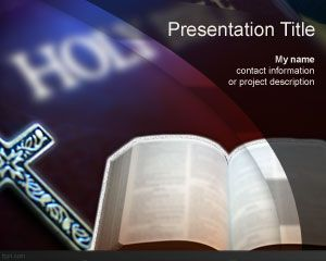 free holy bible powerpoint template slide with sacred text and holy