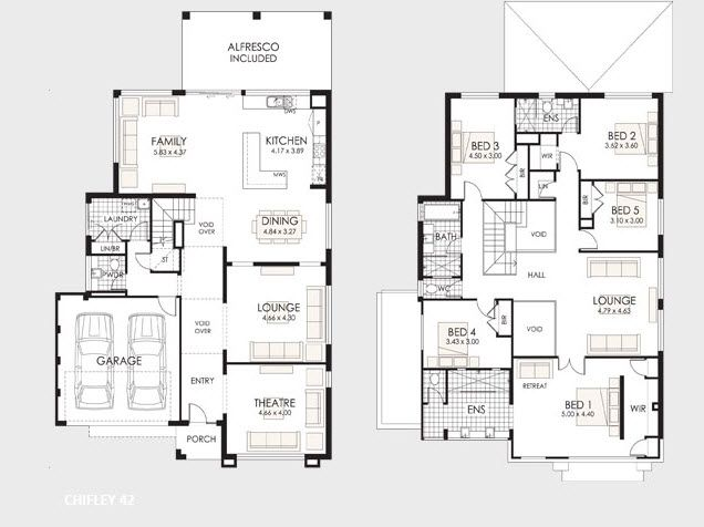 Planos de casas de dos pisos casas de dos pisos dos for Casa moderna grande planos