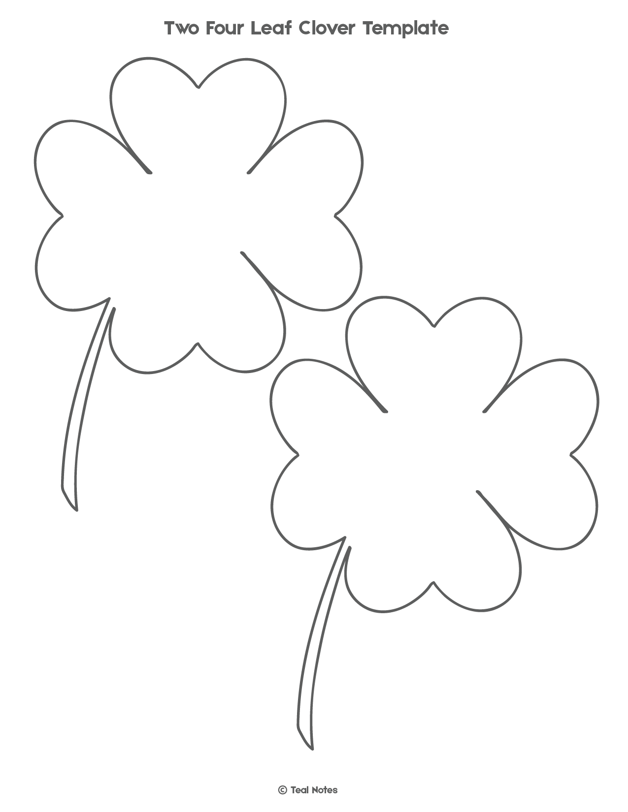 - Four Leaf Clover Template: Free Shamrock Template Printable Di 2020