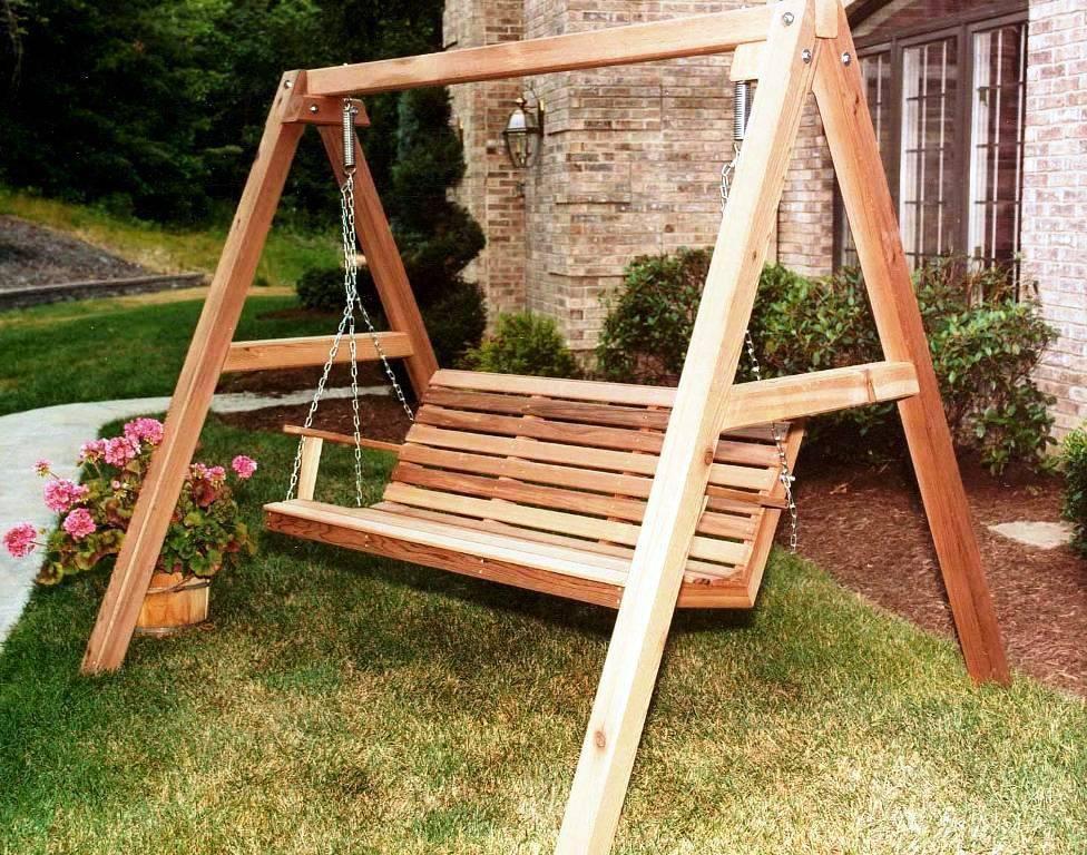 Best Wooden Porch Swings Home Ideas Dengan Gambar