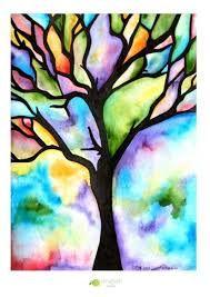 Resultado De Imagen Para Dibujos De Arboles Faciles Watercolor Paintings For Beginners Original Watercolor Painting Tree Art