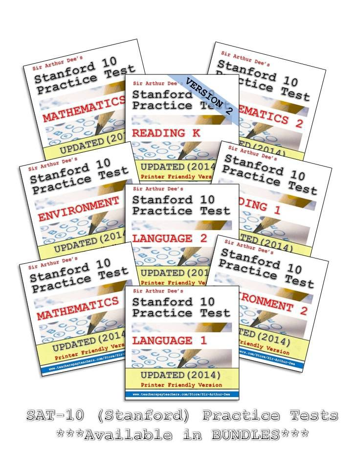 For K-2 Teachers and Parents: Prepare your students and children for the upcoming SAT-10 (Stanford) tests this spring with the help of these Stanford 10 practice tests. Have copies of these materials without needing to go through ordering individual items and waiting for physical delivery of such materials. You can download them directly to your computer. You can be ready to administer these practice tests as soon as today.