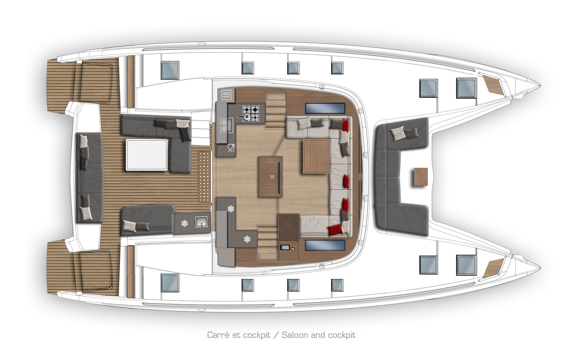 Catamaran Floor Plans
