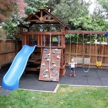 It's easy to be the coolest parents ever - designate a part of your backyard for the kids! contemporaryclassicfurniture.com  #kidsfurniture #playground #junglegym