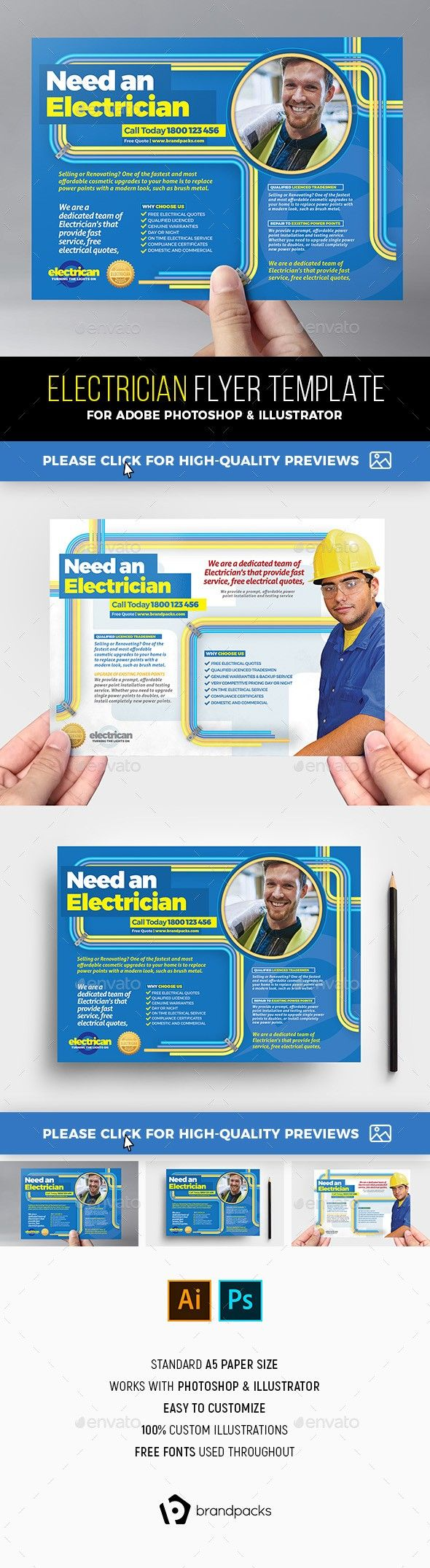 A5 Ad Ad Template Ai Brandpacks Builder Builders Construction