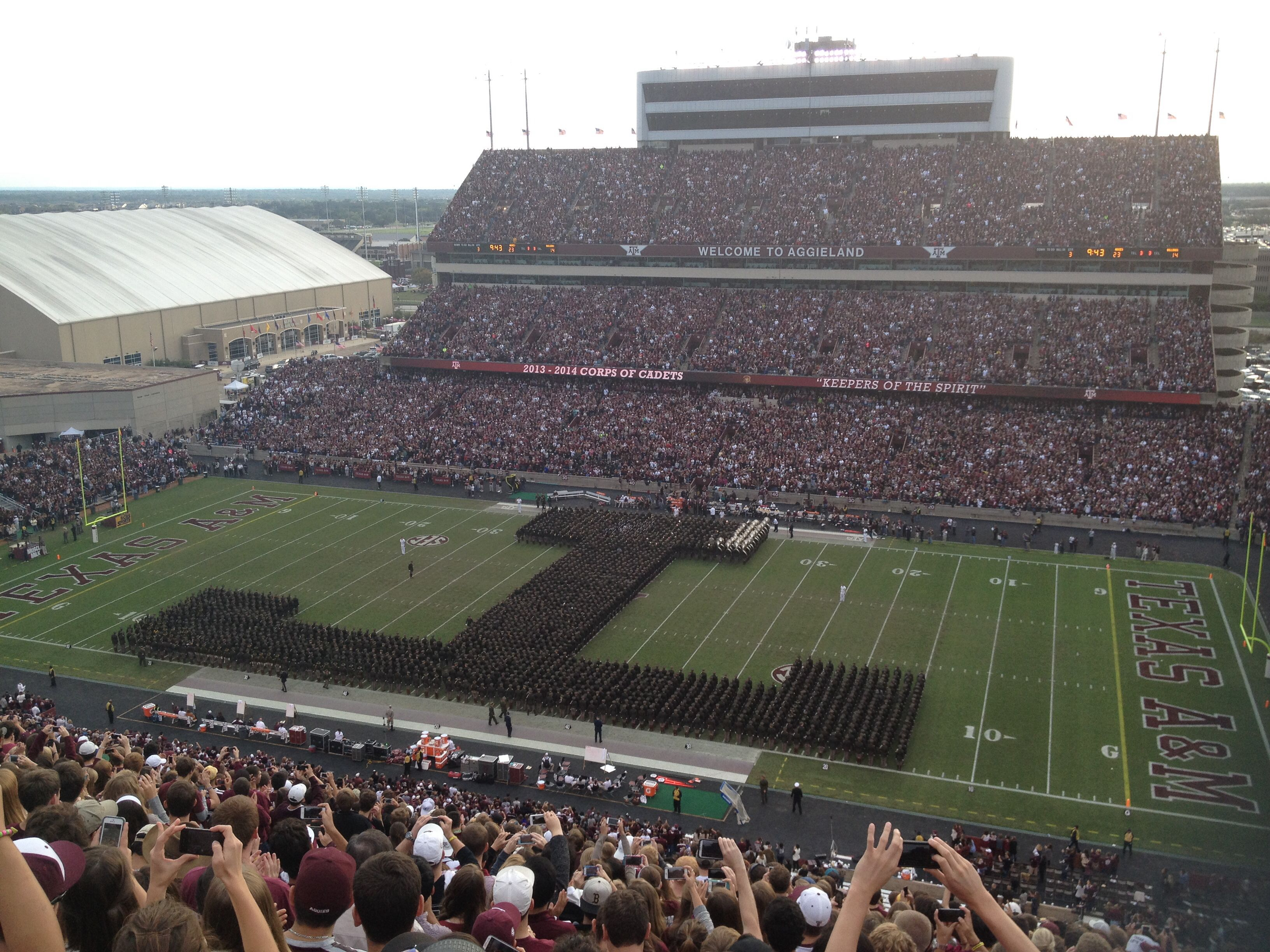Fighting Texas Aggie corps of cadets! I was there for this!