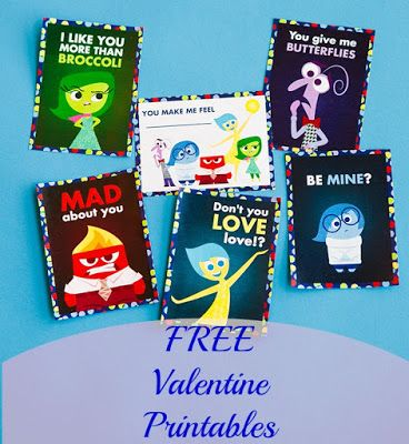 Free Valentine Day Cards - Inside Out, Lumiere, Frozen ...