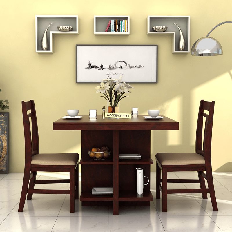 Tiny And Cosy Ralph 2 Seater Dining Set For Your Home With Shelves To Keep Thing Space Saving Dining Table 2 Seater Dining Table Dining Room Furniture Modern