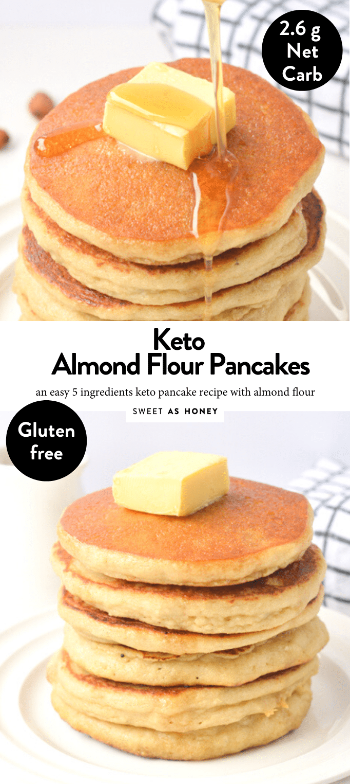 Almond flour pancakes Healthy gluten free recipe - Sweetashoney -   18 healthy recipes Breakfast keto ideas