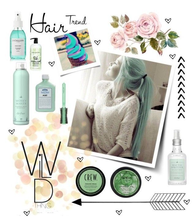 """""""Mint Hair """" by wegenweil ❤ liked on Polyvore featuring beauty, Drybar, Harry Josh Pro Tools, John Allan's, Bumble and bumble and Sachajuan"""