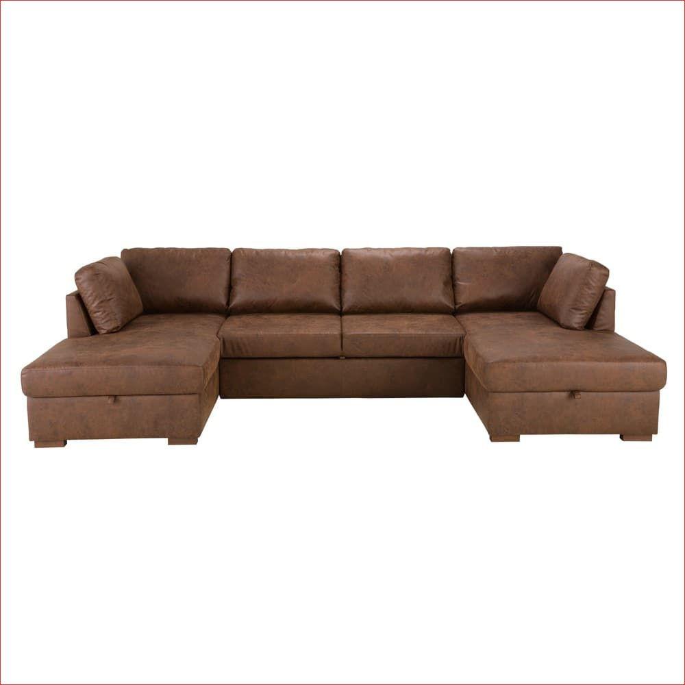 Canape Lit Panoramique 7 Places En Microsuede Marron Times Square Canapepanoramiqueconvertibleaveccoffre Canapepanoramiqueentissu Canapep In 2020 Couch