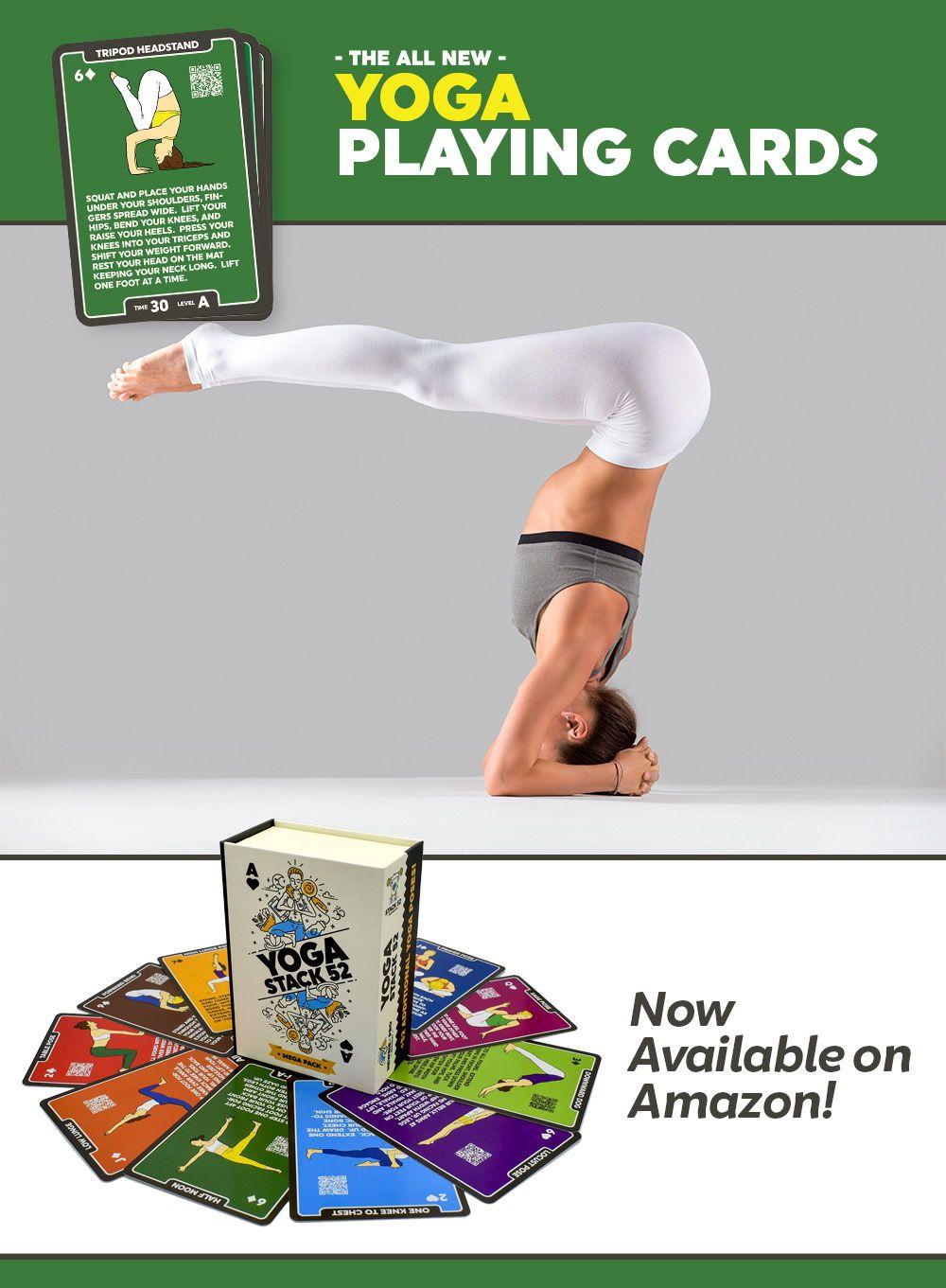 Tripod Headstand Mukta Hasta Sirsasana   Card workout, Workout ...