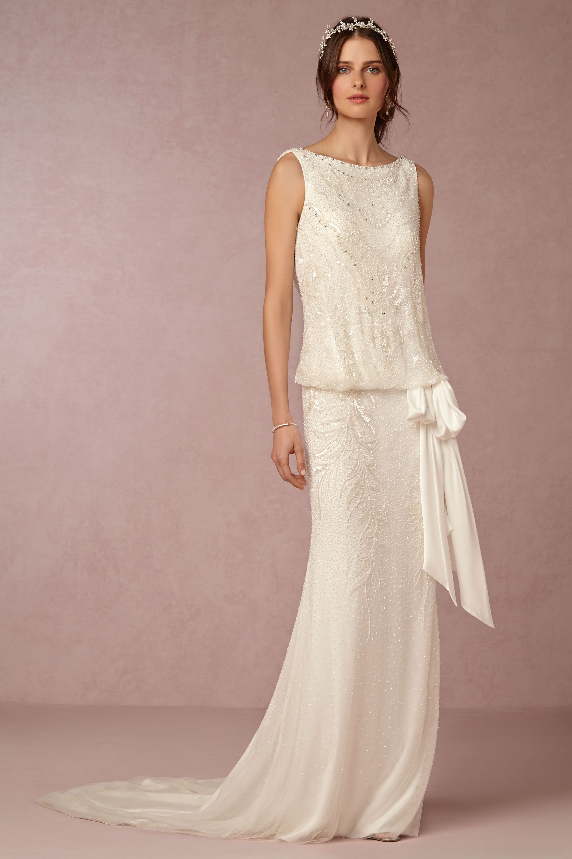 Arabella Gown from @BHLDN. I love the drop waist look (so classic ...