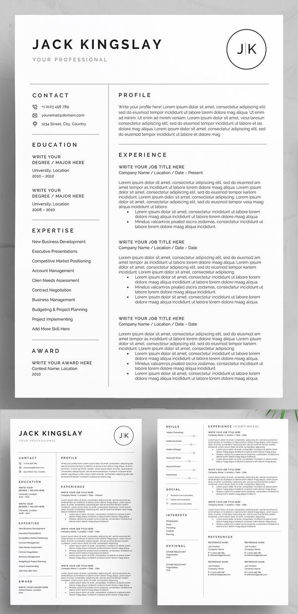30 Best Word Resume Templates - Downloadable resume template, Graphic resume, Resume template professional, Resume design professional, Resume design template, Resume layout - Clean & professional Word Resume Templates with cover letter and portfolio pages  Very easy to edit by Microsoft Word  All details are fully customizable and