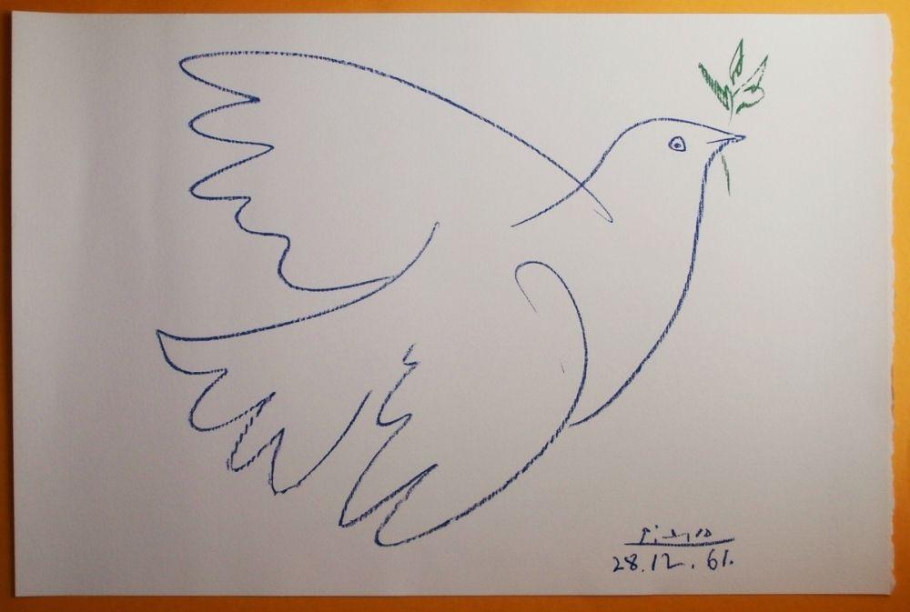 Pablo Picasso Golabek Pokoju Oryg Litografia Coa 6728319634 Oficjalne Archiwum Allegro Pablo Picasso Picasso Lithograph