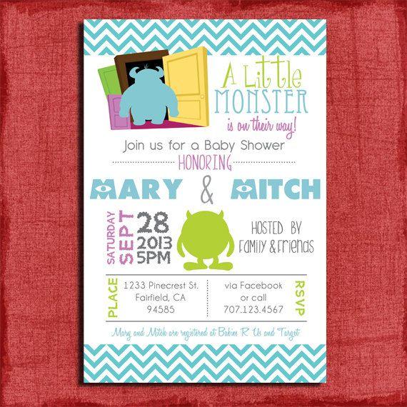 ABC baby Shower invitation DIY