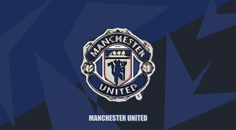 Manchester United In Blue Pc Wallpaper Manchester United Wallpaper Manchester United Manchester United Logo
