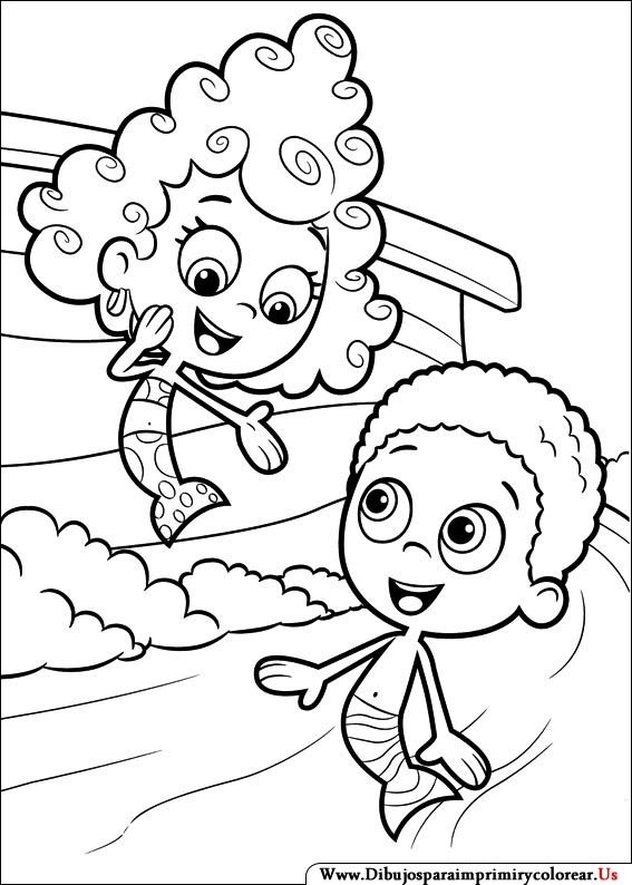 Bubble Guppies Coloring Pages Here Are  Bubble Guppies Coloring Pages Free For Your Kids The Article Includes Popular Characters From This Television