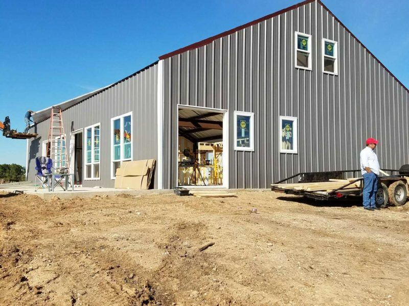 40x60 Steel Building located in Cleburne, TX