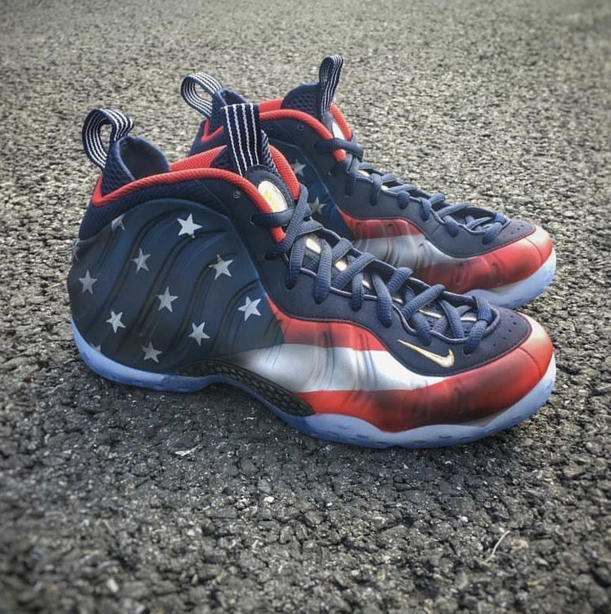 Foamposite American Flag Nike Sneaks In 2019 Bb Shoes Shoes