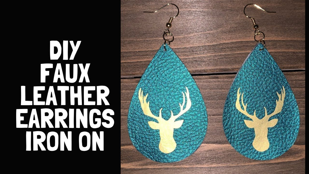 How to Make Faux Leather Earrings With A Cricut Explore