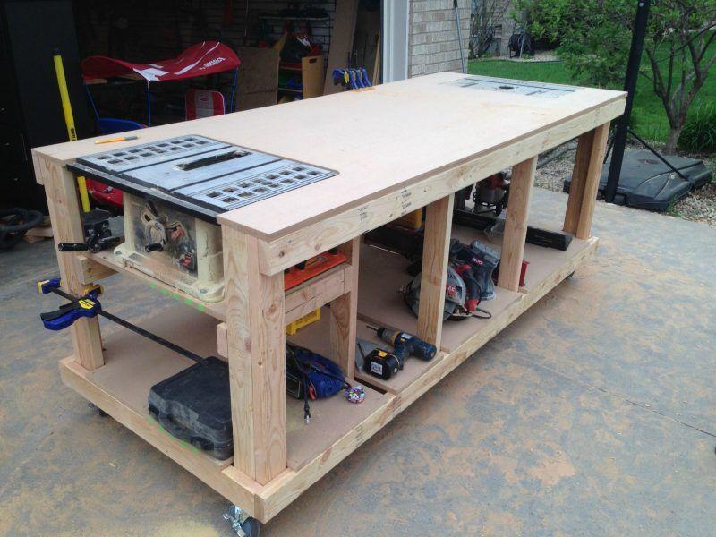 2 bauanleitungen f r heimwerker werktisch und werkbank selber bauen bauen pinterest. Black Bedroom Furniture Sets. Home Design Ideas