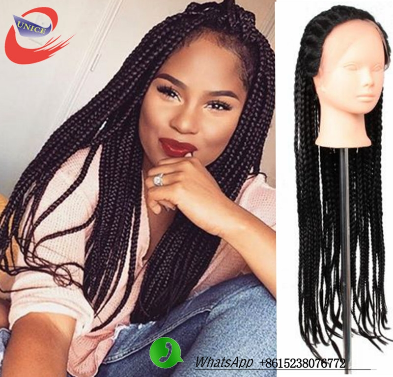 55.00 Buy here Lace Front Box Braid Wigs Synthetic Lace