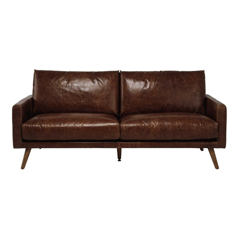 Rode Leren Chesterfield Bank.3 Sitzer Ledersofa Cognacbraun Delhi 3 Seater Leather Sofa