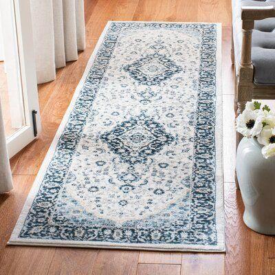 Charlton Home Delmer Blue Area Rug Rug Size: Rectangle 4' x 6' #homedecor