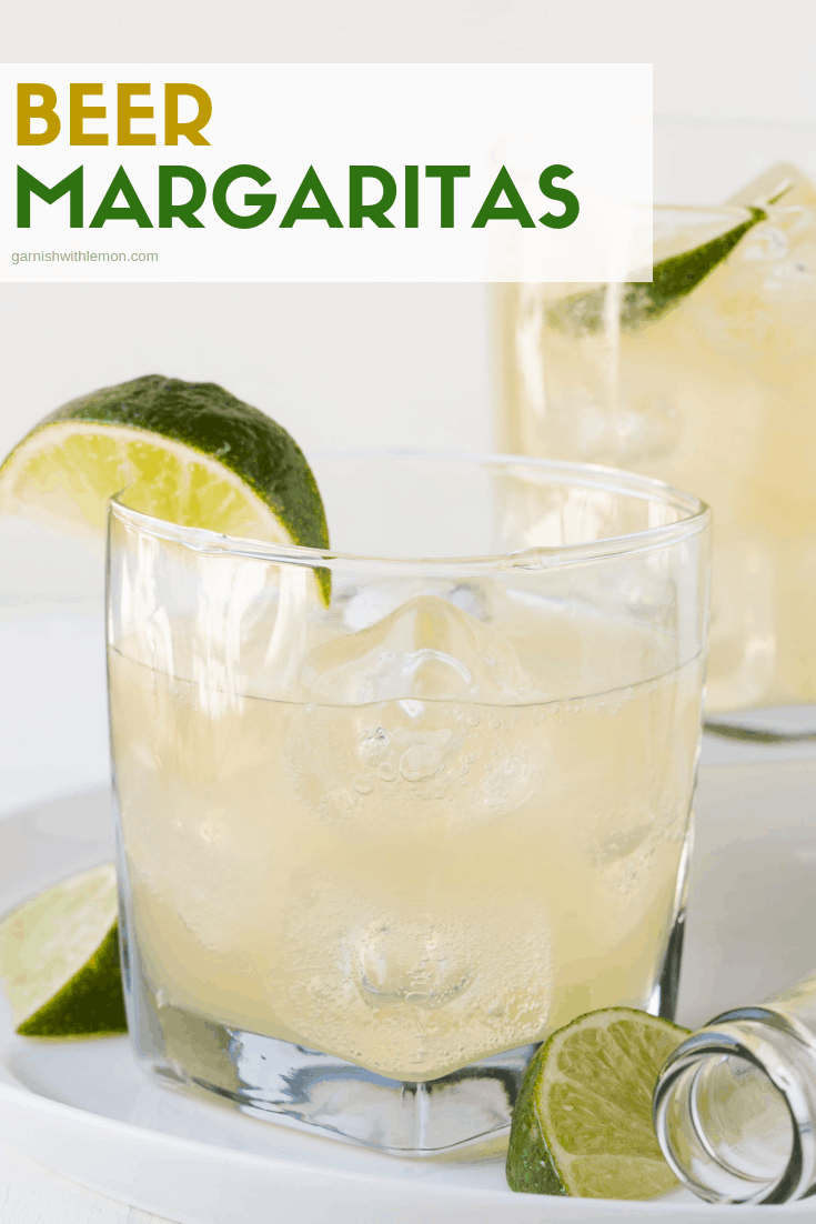 Skeptical of beer in a margarita? We were, too, until we tasted this 3-ingredient recipe for Beer Margaritas. Now it's an easy signature cocktail for our March Madness party (or any party, for that matter)!