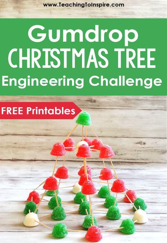 Christmas STEM Activity Gumdrop Christmas Tree Christmas