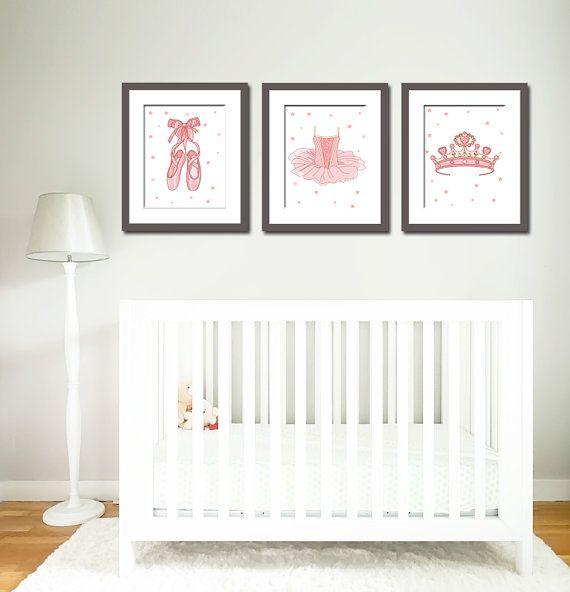 Little Girl Bedroom Art: Nursery Art, Ballerina Prints, Ballet Prints, Little Girls
