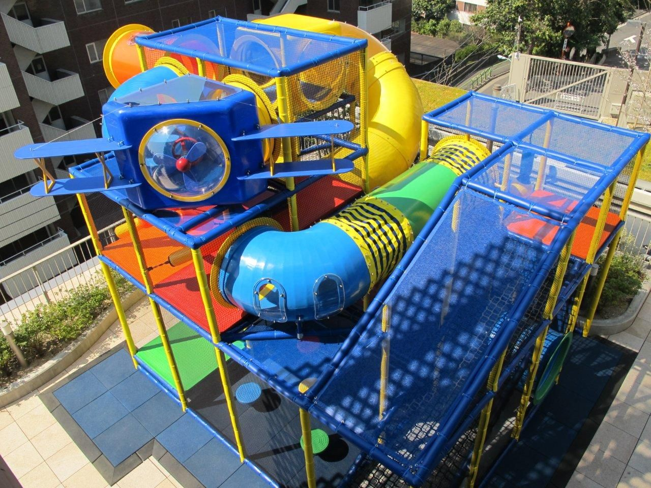 Indoor Playground Events In A Play Structure: At The Top Of This Playground  We Have
