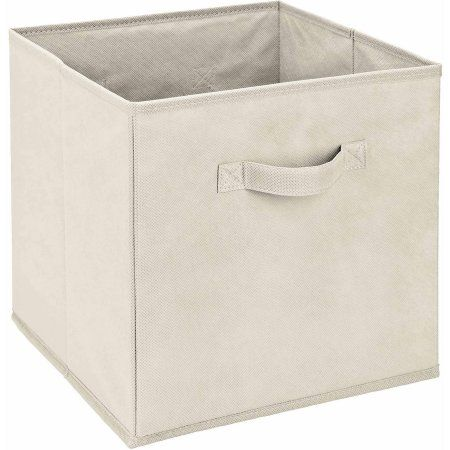 Simplify Collapsible Storage Bins Cubes Ivory 11 X 11 X 11 Walmart Com Collapsible Storage Bins Storage Storage Bins