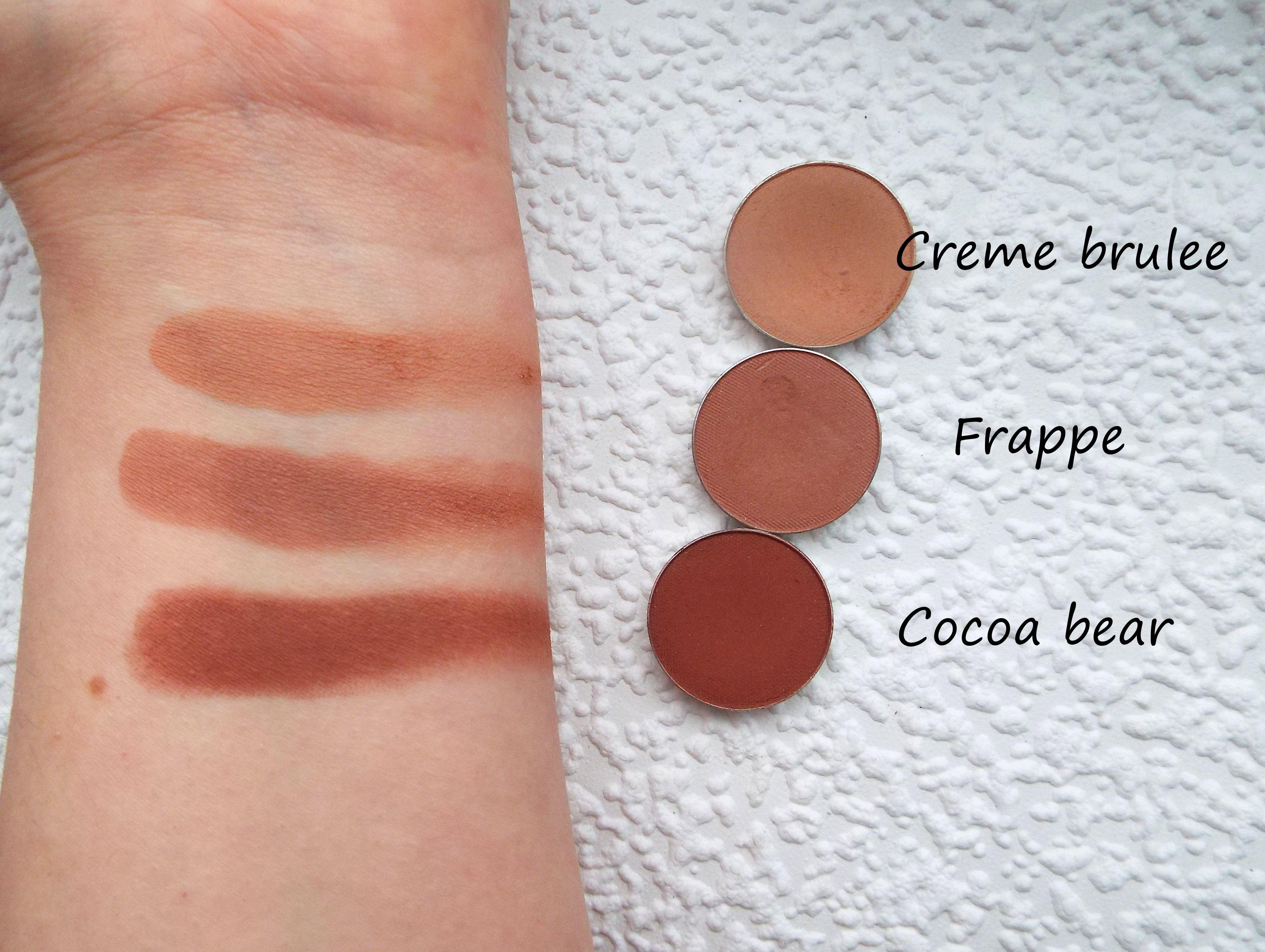 Creme Brulee Frappe Cocoa Bear Makeup Geek Swatch Makeup Geek Swatches Makeup Geek Simple Nail Designs