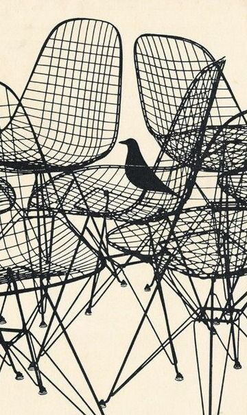 charles ray eames wire chair commercial for herman. Black Bedroom Furniture Sets. Home Design Ideas