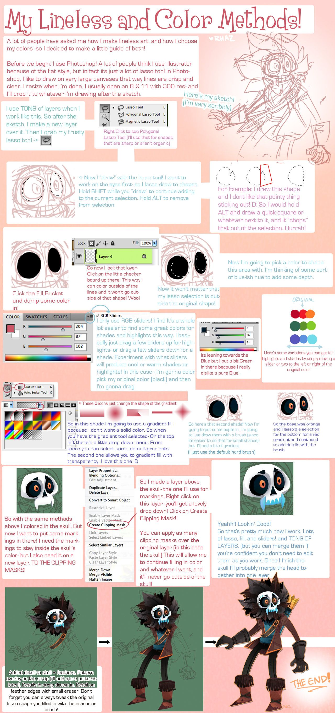 Lineless and Coloring Tutorial by *Rhazcrossbones on deviantART ...