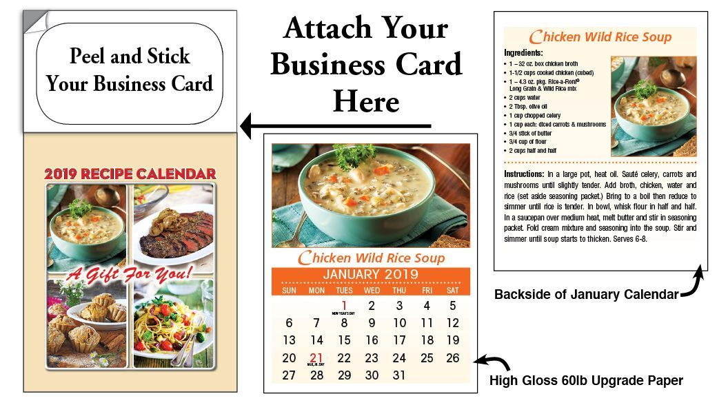 Recipe Tear-off Magnetic 2019 Calendars For Real Estate Agents