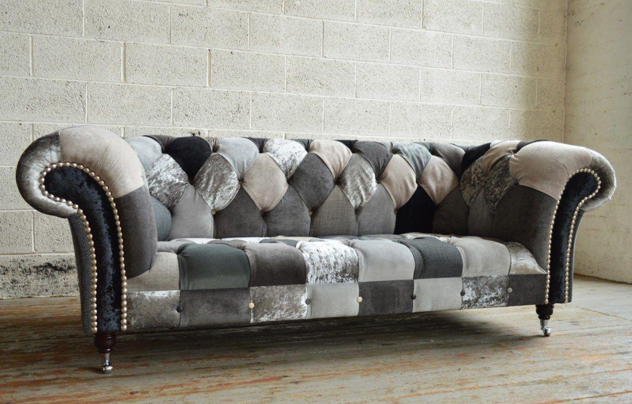 Image Result For Velour Or Velvet Chesterfield Sectional Patchwork Sofa Patchwork Chesterfield Sofa Sofa Design