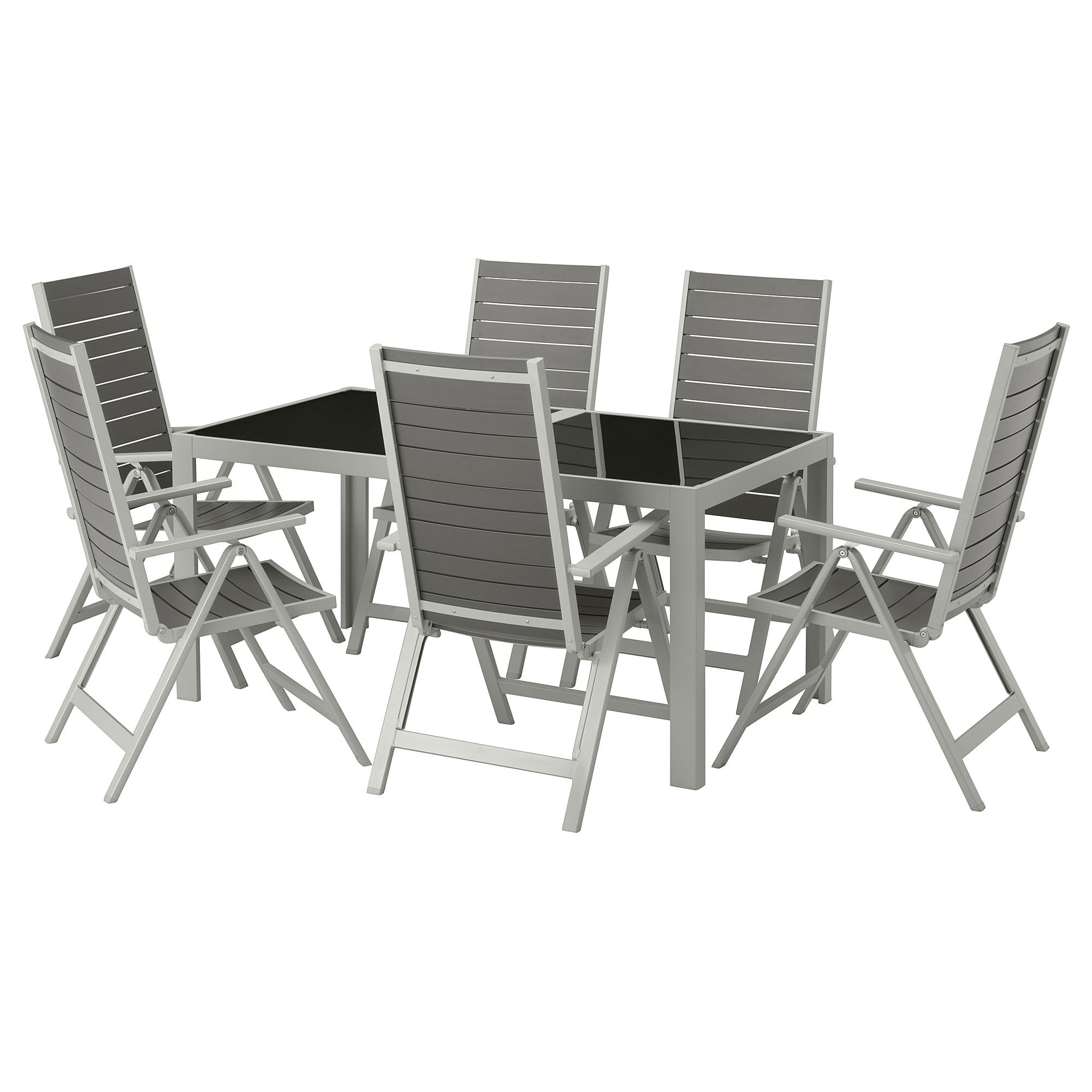 Phenomenal Ikea Sjalland Glass Gray Light Gray Table 6 Reclining Unemploymentrelief Wooden Chair Designs For Living Room Unemploymentrelieforg