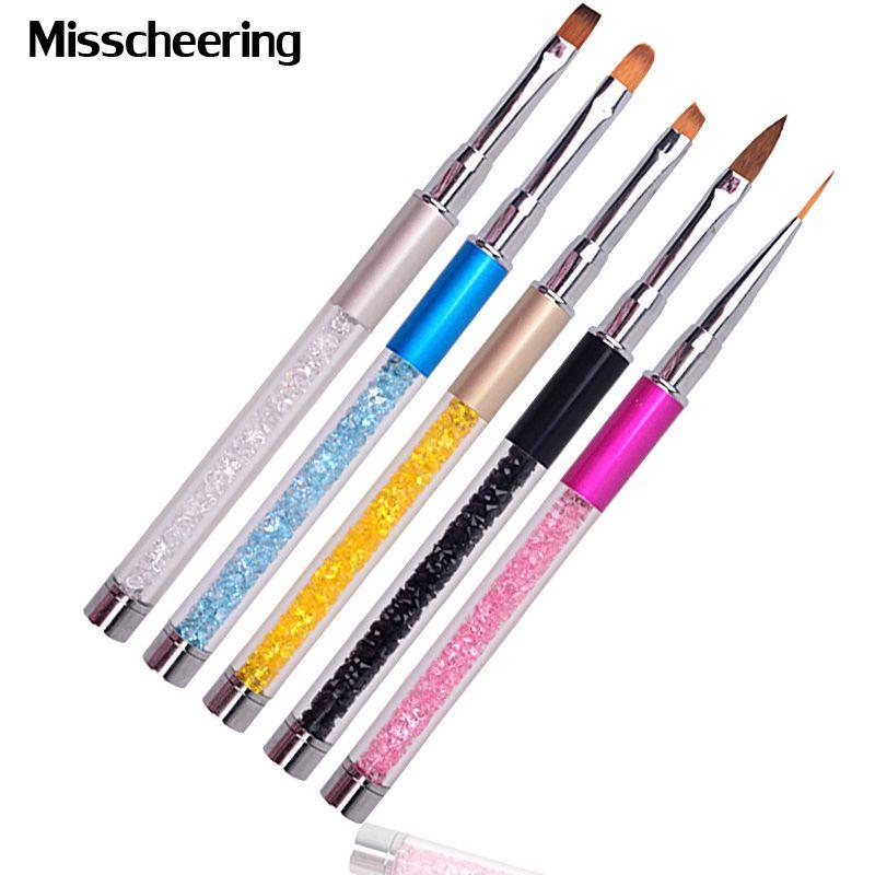 New 1pcs Professional Nail Art Design Brush Pen Drawing Lines Painting Carving Gradient UV Gel Salon Beauty Nail Tools