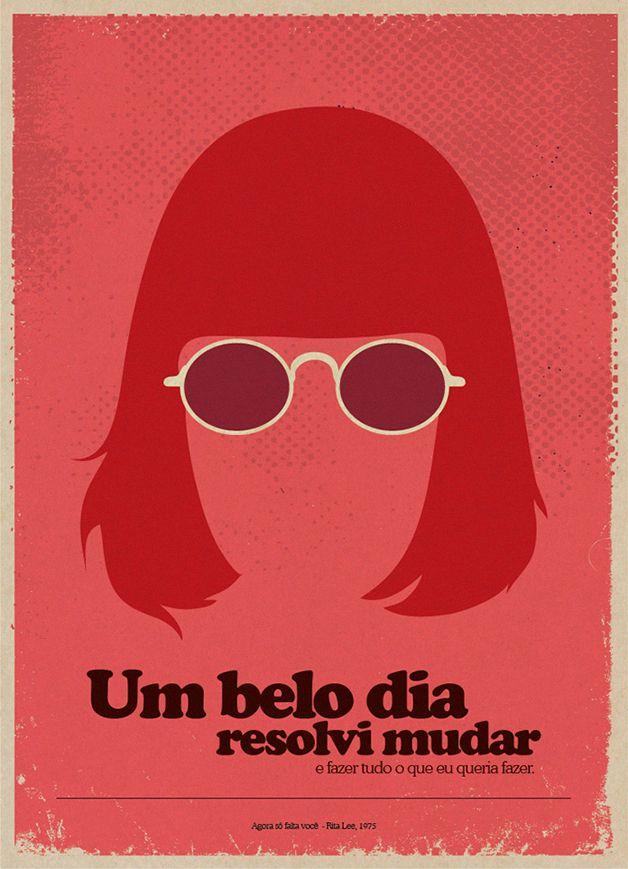 Um Belo Dia Resolvi Mudar Desenho Pinterest Poster Musica